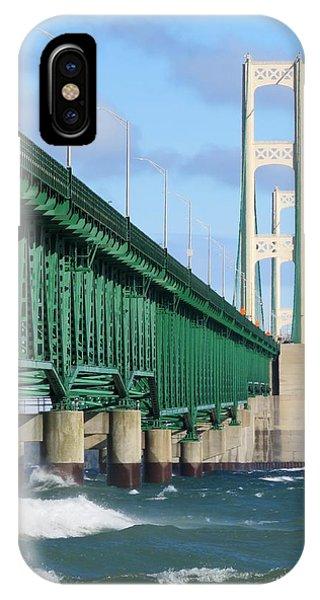 Mackinac Bridge And Waves IPhone Case
