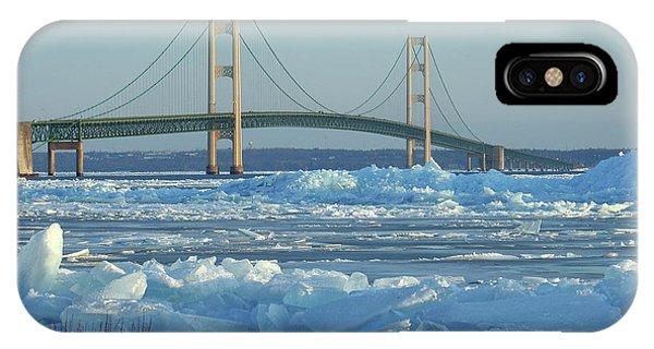 Mackinac Bridge In Ice 2161801 IPhone Case
