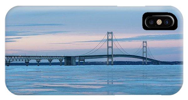Mackinac Bridge In Ice 2161803 IPhone Case