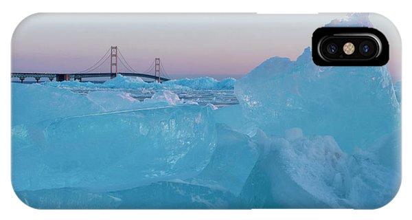 Mackinac Bridge In Ice 2161805 IPhone Case