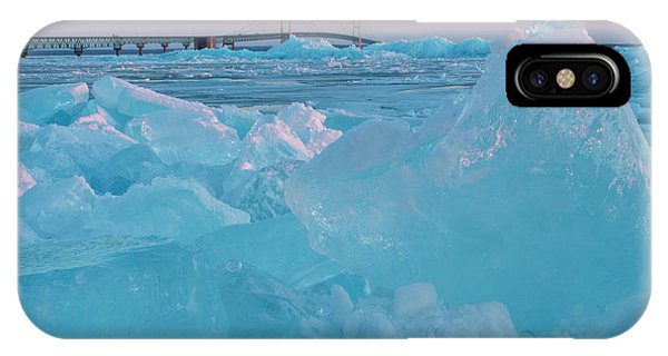 Mackinac Bridge In Ice 2161806 IPhone Case