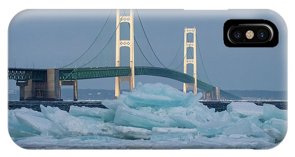 Mackinac Bridge In Ice 2161809 IPhone Case