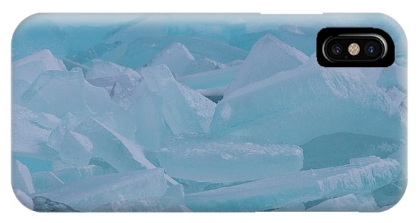 Mackinaw City Ice Formations 21618010 IPhone Case