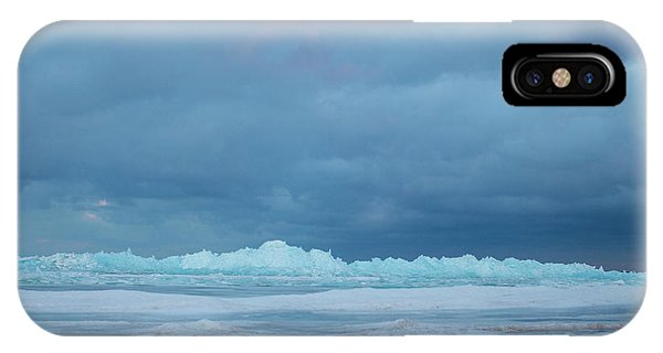 Mackinaw City Ice Formations 21618011 IPhone Case