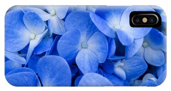 Blue Violet iPhone Case - Macro Image Of Blue Hydrangea Flower by Noppharat Studio 969