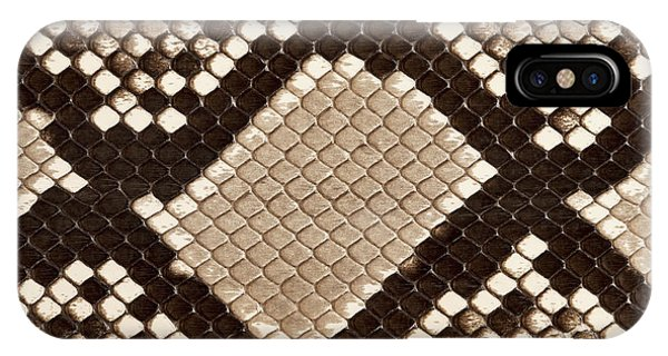 Texture iPhone Case - Macro Image Of The Python Skin by Images And Videos