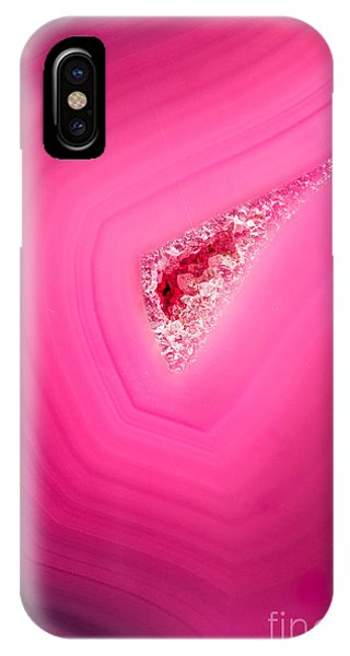 Layer iPhone Case - Macro Of A Beautiful Pink Stone Cut And by Wollertz