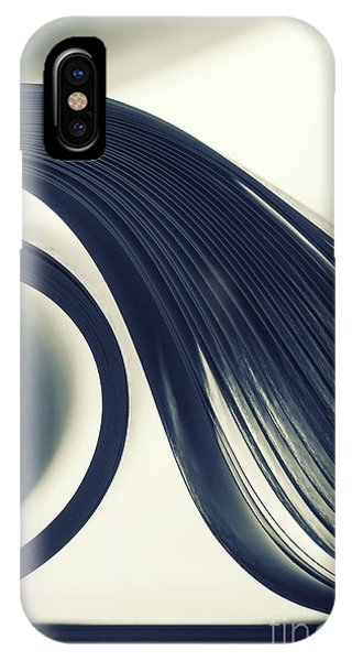Form iPhone Case - Macro View Of Abstract Paper Curves by Nomad soul