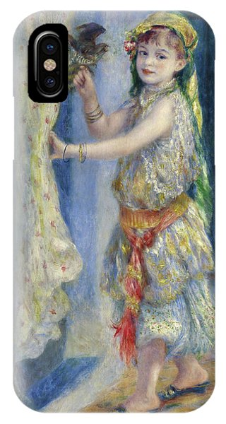 Child Actress iPhone Case - Mademoiselle Fleury In Algerian Costume, 1882 by Pierre-Auguste Renoir