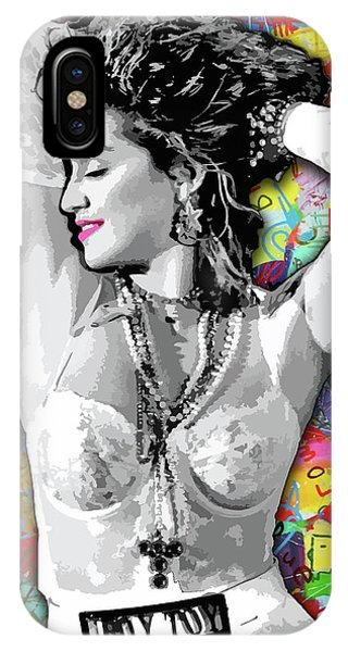 IPhone Case featuring the painting Madonna Boy Toy by Carla B