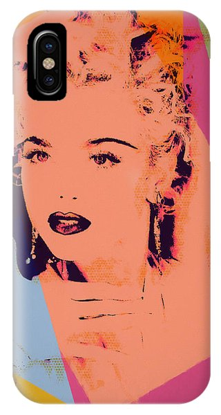 Mtv iPhone Case - Madonna Pop Art Pose by Dan Sproul
