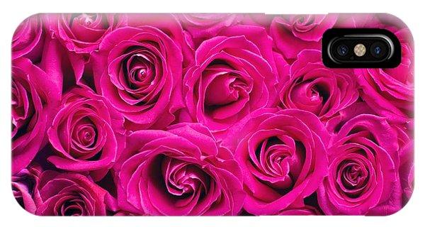 Magenta Roses IPhone Case