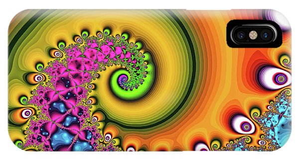 IPhone Case featuring the digital art Magic Hook Orange Art by Don Northup