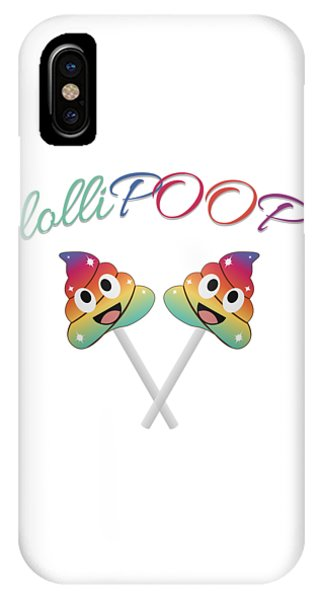 Toilet Humor iPhone Case - Magical Unicorn Lollipop In Multicolor by Shawlin