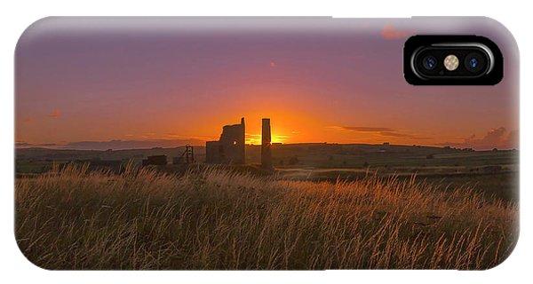 Magpie Mine Sunset IPhone Case