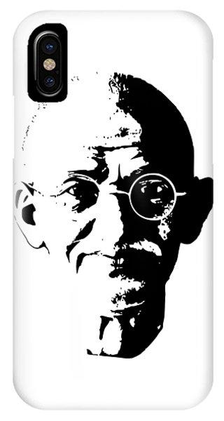 Equal iPhone Case - Mahatma Gandhi Minimalistic Pop Art by Filip Hellman