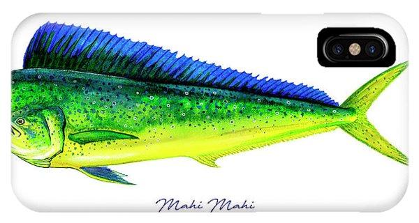 Reel iPhone Case - Mahi Mahi by Charles Harden