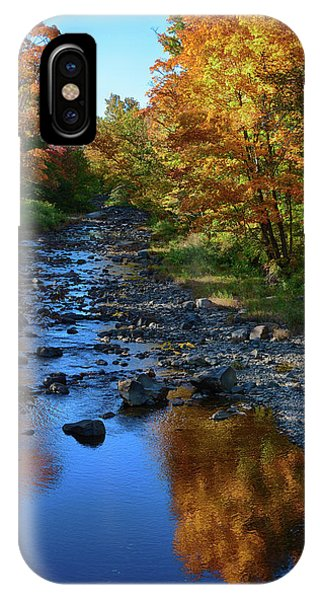 Maine Fall Color Reflection IPhone Case