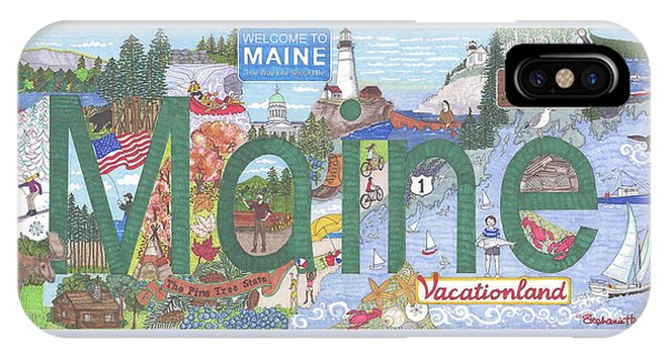 Maine IPhone Case