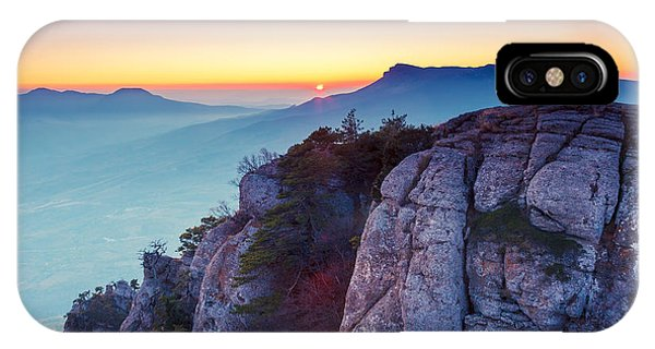 Dusk iPhone Case - Majestic Morning Mountain Landscape by Creative Travel Projects