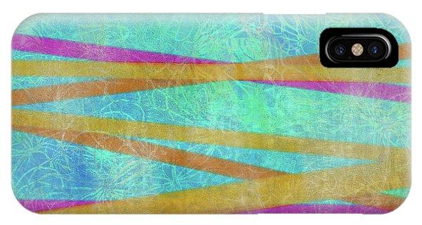 Malaysian Tropical Batik Strip Print IPhone Case