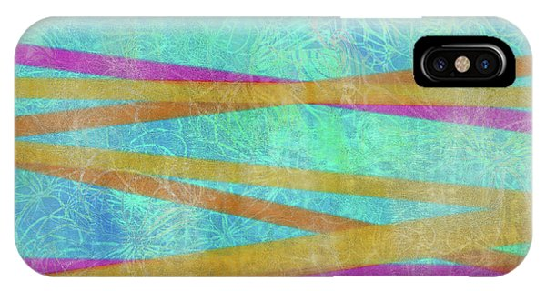 Malaysian Tropical Batik Strip Print IPhone Case