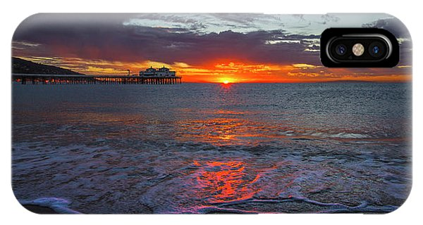 Malibu Pier Sunrise IPhone Case