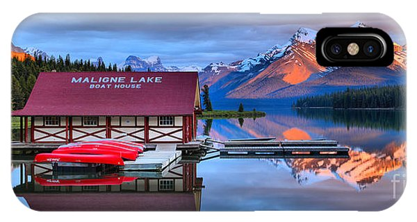 Maligne Lake Sunset Spectacular IPhone Case