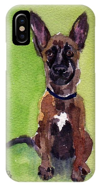 Malinois Pup 2 IPhone Case