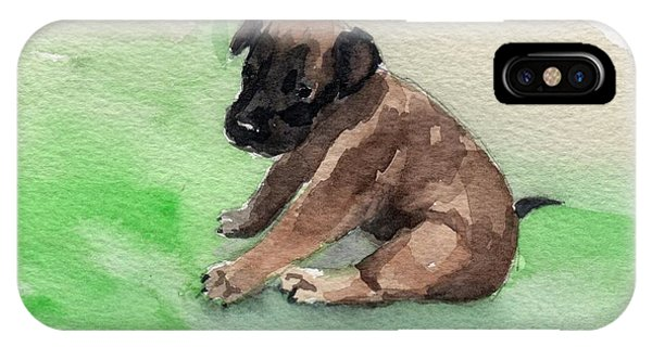 Malinois Pup 3 IPhone Case