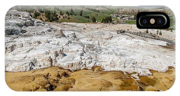 IPhone Case featuring the photograph Mammoth Hot Springs And Hotel by Matthew Irvin