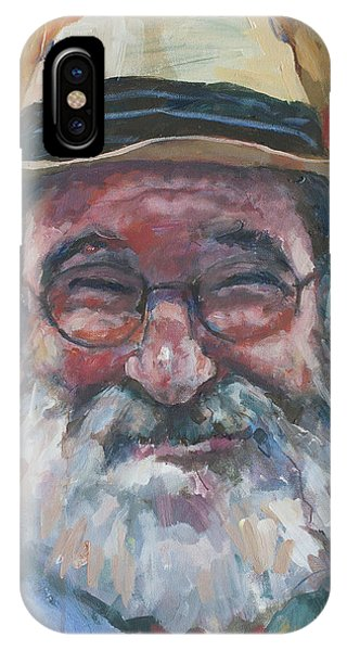 Man With Yellow Hat IPhone Case