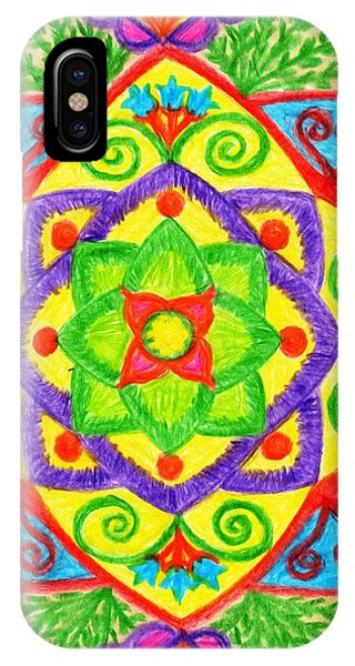 IPhone Case featuring the drawing Mandala 1 by Dobrotsvet Art