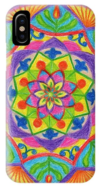 IPhone Case featuring the drawing Mandala 2 by Dobrotsvet Art