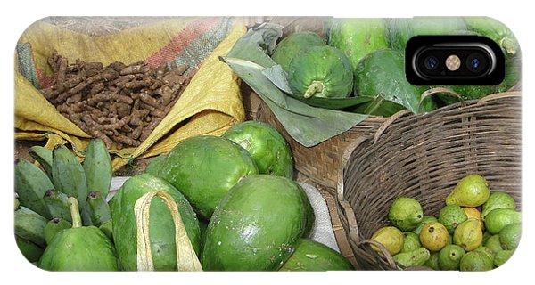 Mangos, Turmeric And Green Bananas  IPhone Case