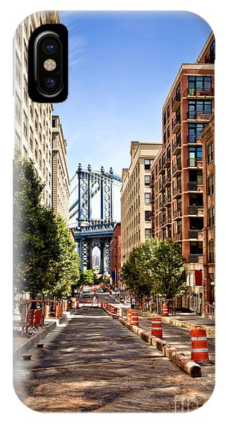 Historic House iPhone Case - Manhattan Bridge,view From Washington by Andrey Bayda