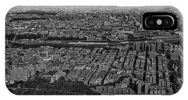 iPhone Case - Manhattan Bronx Nyc Aerial Bw by Susan Candelario