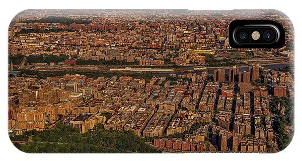 iPhone Case - Manhattan Bronx Nyc Aerial by Susan Candelario
