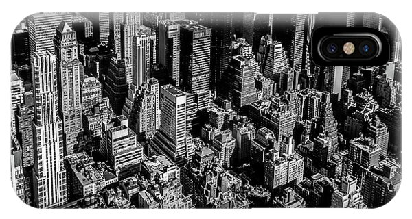 Rooftops iPhone Case - Manhattan Rooftop View by Nicklas Gustafsson