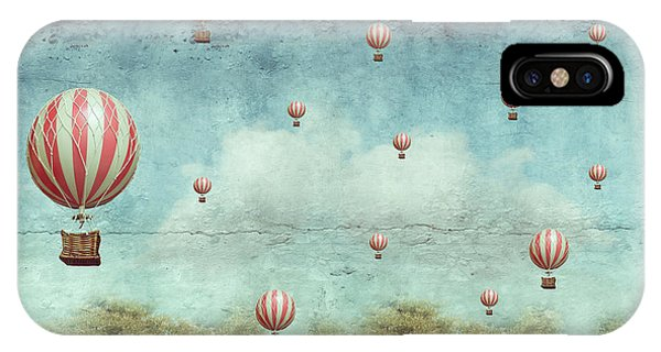 Surrealistic iPhone Case - Many Hot Air Balloons Flying Over A by Valentina Photos