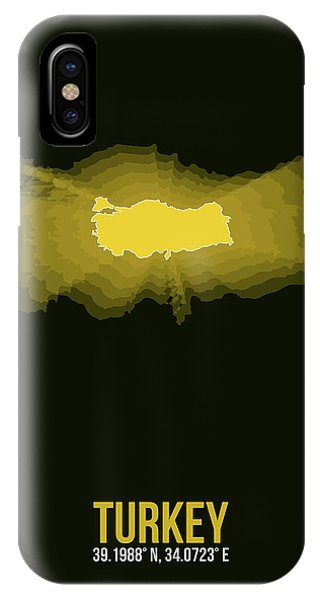 Turkey iPhone Case - Map Of Turkey 3 by Naxart Studio