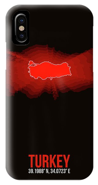 Turkey iPhone Case - Map Of Turkey by Naxart Studio