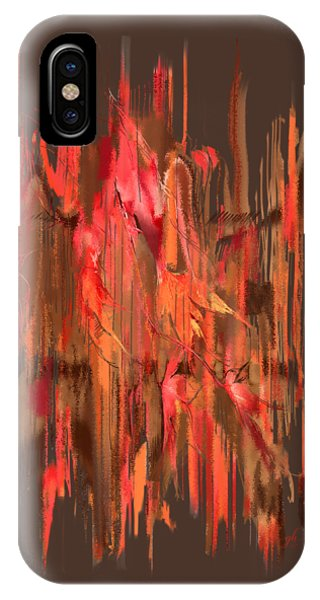 IPhone Case featuring the digital art Maple Leaf Rag by Gina Harrison