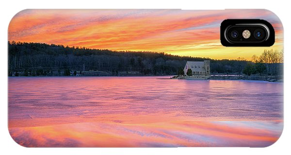 March Sunset At The Old Stone Church IPhone Case