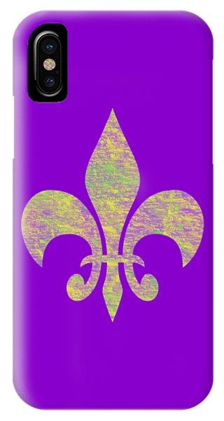 Mardi Gras Party Fleur De Lis IPhone Case