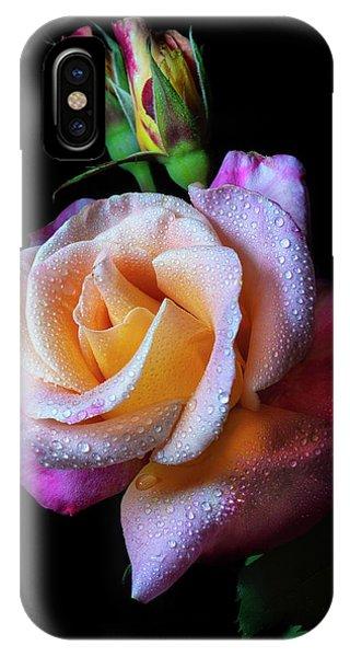 Mardi Gras Rose Portrait IPhone Case
