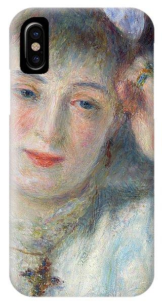 1877 iPhone Case - Marie Murer, 1877 by Pierre Auguste Renoir