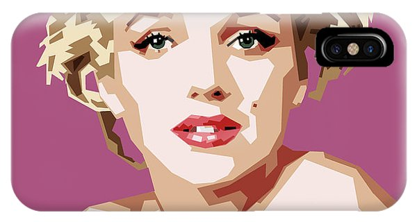 Actor iPhone Case - Marilyn by Douglas Simonson