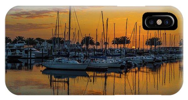 Marina Sunrise-3 IPhone Case