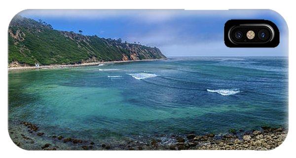 Marine Layer Over Bluff Cove Panorama IPhone Case